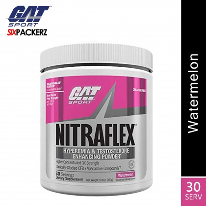 GAT Nitraflex 30 servings Pre Workout and Testosterone Booster - Watermelon
