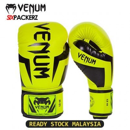 [READY STOCK] VENUM Professional Boxing Muay Thai Training Punching Bag Gloves 12oz-PINK