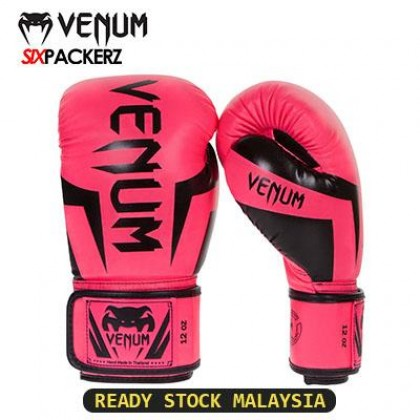 [READY STOCK] VENUM Professional Boxing Muay Thai Training Punching Bag Gloves 12oz-ORANGE