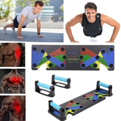 Power Press Push Up Board System Pushup Stands Complete Training Gym Exercise