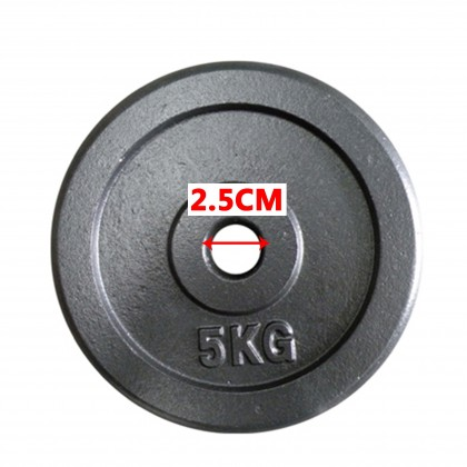 5kg Iron Cast Weight Plate Dumbbell Barbell For 2.5cm Hole