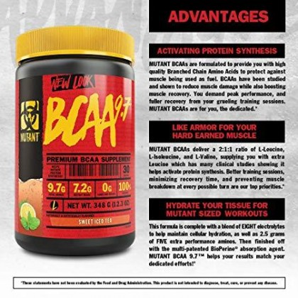 Mutant BCAA 9.7, 30 servings - Fuzzy Peach