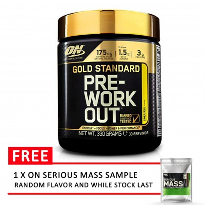 Optimum Nutrition Gold Standard Pre-Workout , Pineapple 30 servings Pre Workout Preworkout