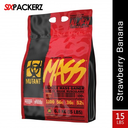 Mutant Mass 15lbs (6.8kg) - Strawberry Banana Mass gainer protein
