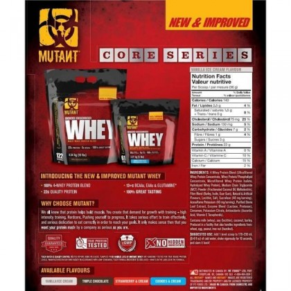 Mutant Whey, Triple Chocolate, 5lbs