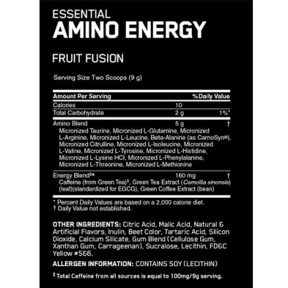 Optimum Nutrition Essential Amino Energy 65 Servings - Fruit Fusion