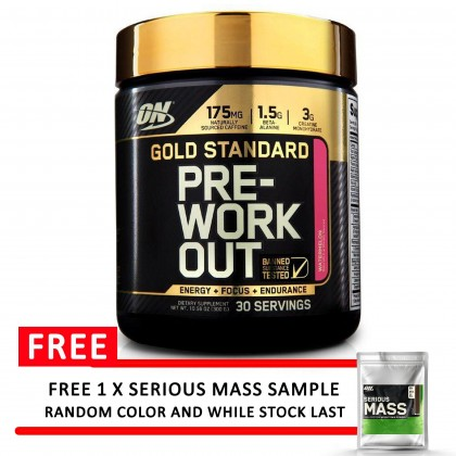 Optimum Nutrition Gold Standard Pre-Workout , Strawberry Lime 30 servings Pre Workout Preworkout