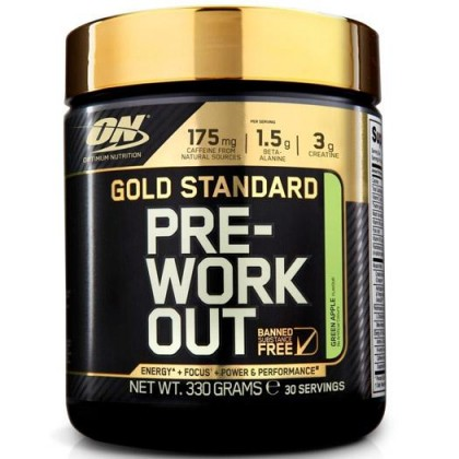 Optimum Nutrition Gold Standard Pre-Workout , Green Apple 30 servings Pre Workout Preworkout