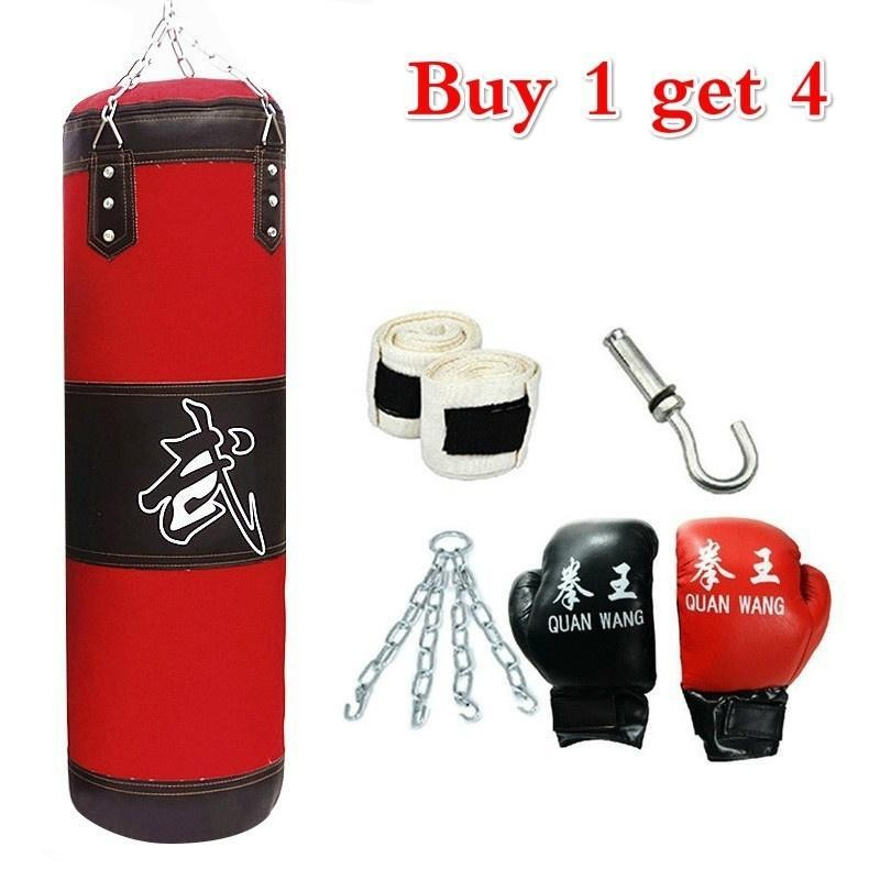 Combo Pack Punching Bag With Wall Mounted Pull Up Bar Free
