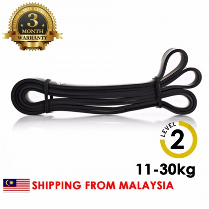 [LEVEL 2] BLACK Gym looped fitness band Natural Latex Pull Up Physio Resistance Bands Fitness Bodybuilding Yoga Equipment