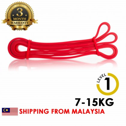 [LEVEL 1] RED Gym looped fitness band Natural Latex Pull Up Physio Resistance Bands Fitness Bodybuilding Yoga Equipment