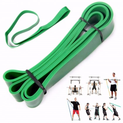 [LEVEL 4] GREEN Gym looped fitness band Natural Latex Pull Up Physio Resistance Bands Fitness Bodybuilding Yoga Equipment