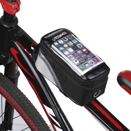 Waterproof Cycling Bike Bicycle Phone Pouch Tube Bag Front Frame Pannier For Cellphone