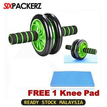 High Grade Abs Roller with Free Knee Mat Double Smooth Roller Home gym Equipment